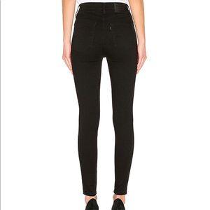 Levi's Mile High Super Skinny Ankle Jeans (Black)